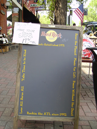 Blackboard Sandwich Board